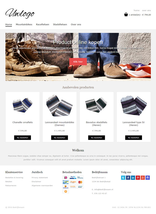 "Responsive webshop template ""Base"""