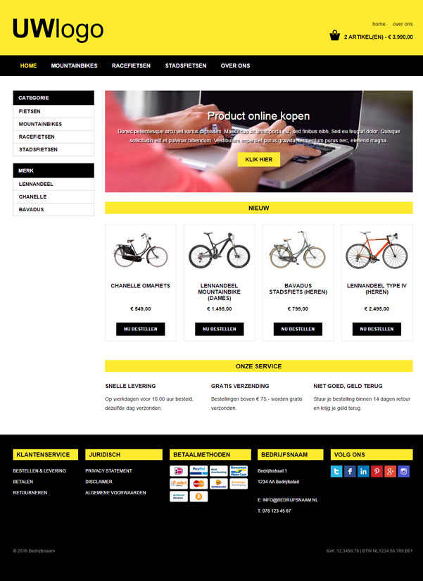 "Responsive webshop template ""Nitro"""