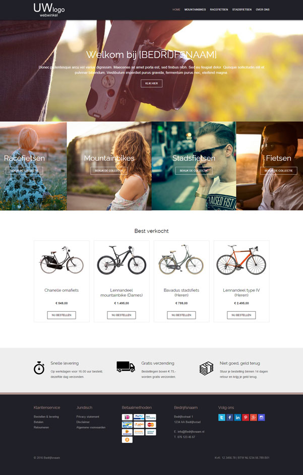 "Responsive webshop template ""Toll"""