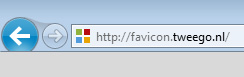 Favicon in tabblad van de browser
